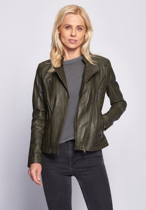 SALLY - Leather jacket - forest night