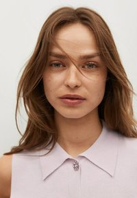 Mango - BROTO - Button-down blouse - violet clair pastel - 3