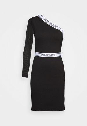 ASYMM MILANO LOGO FITTED DRESS - Shift dress - black