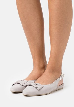 Slingback ballet pumps - light grey