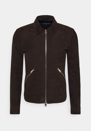 JACKET - Leather jacket - brown