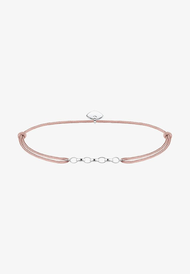 LITTLE SECRET  - Armband - silver-coloured/beige