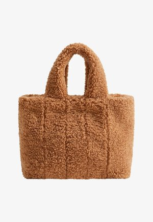 FURRY - Handbag - beige
