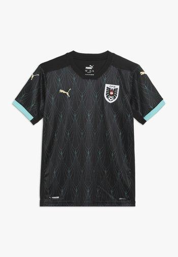 ÖSTERREICH ÖFB AWAY JERSEY - Oblečení národního týmu - black/blue turquoise