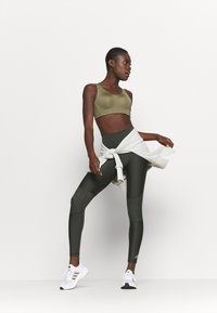 adidas Performance - ALPHA BRA - High support sports bra - olive - 1
