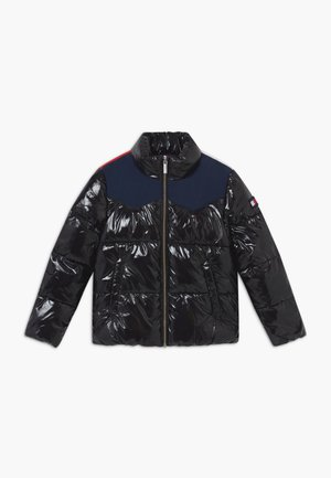 SHINY YOKE PUFFER - Winter jacket - black