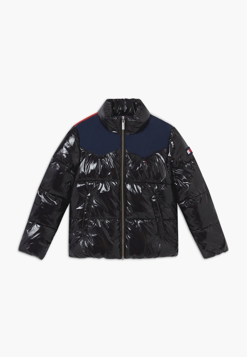 Tommy Hilfiger - SHINY YOKE PUFFER - Winter jacket - black