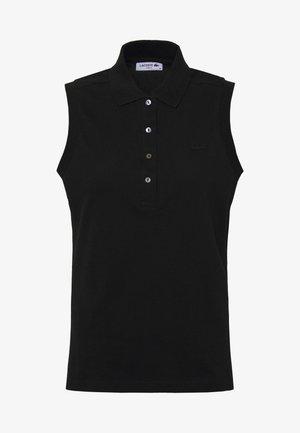 SLEEVELESS BASIC SLIM FIT - Polo shirt - black