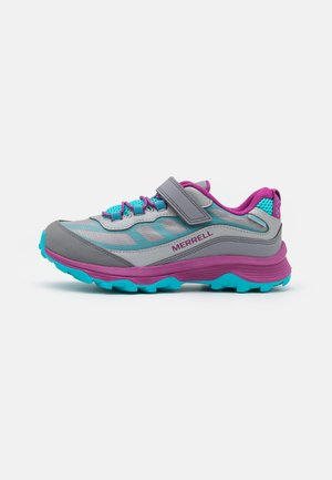 MOAB SPEED LOW A/C WTRPF UNISEX - Hiking shoes - grey/silver/turquoise