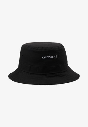 SCRIPT BUCKET HAT - Hat - black/ white