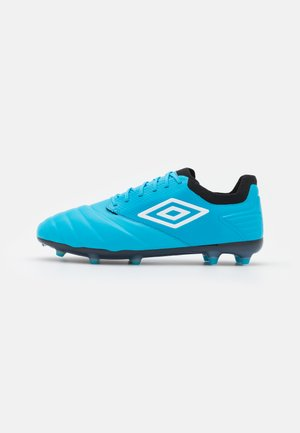 TOCCO PRO FG - Moulded stud football boots - cyan blue/white/black