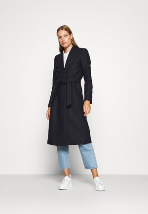 DOUBLE COLLAR COAT - Manteau classique - navy blue
