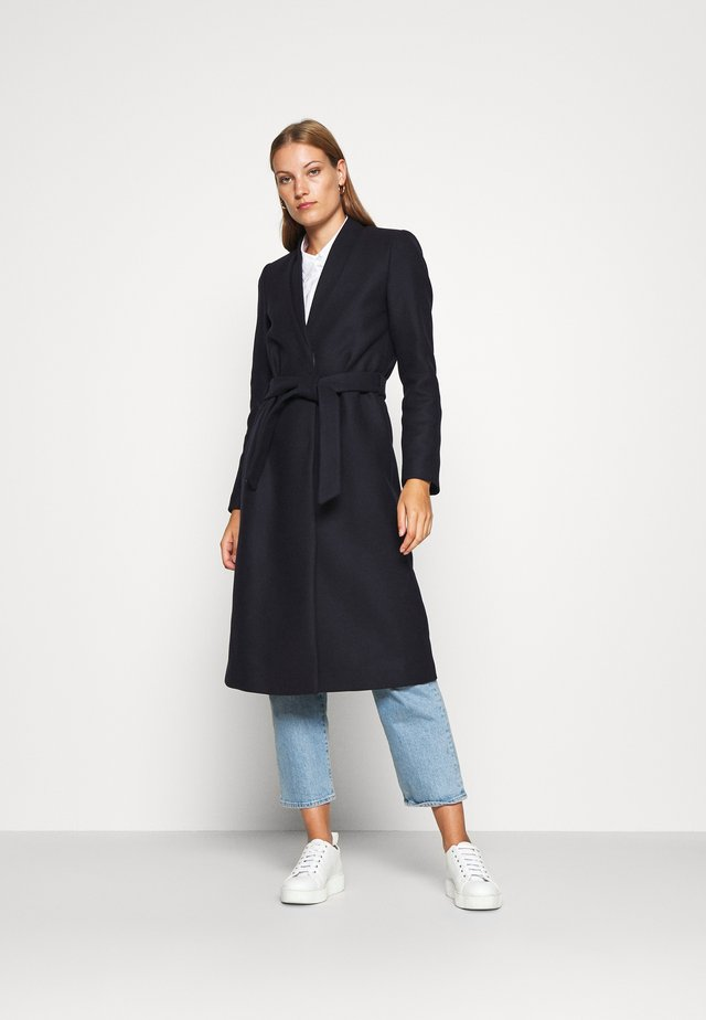 DOUBLE COLLAR COAT - Classic coat - navy blue
