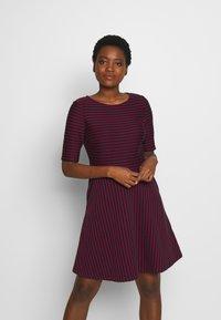 Esprit - STRIPED DRESS - Day dress - navy - 0
