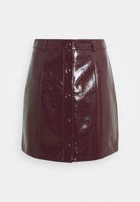 LADIES SKIRT PATENT - Mini skirt - burgundy