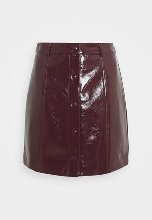 LADIES SKIRT PATENT - Mini skirt - burgundy