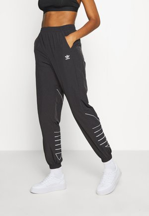 LOGO - Tracksuit bottoms - black/white