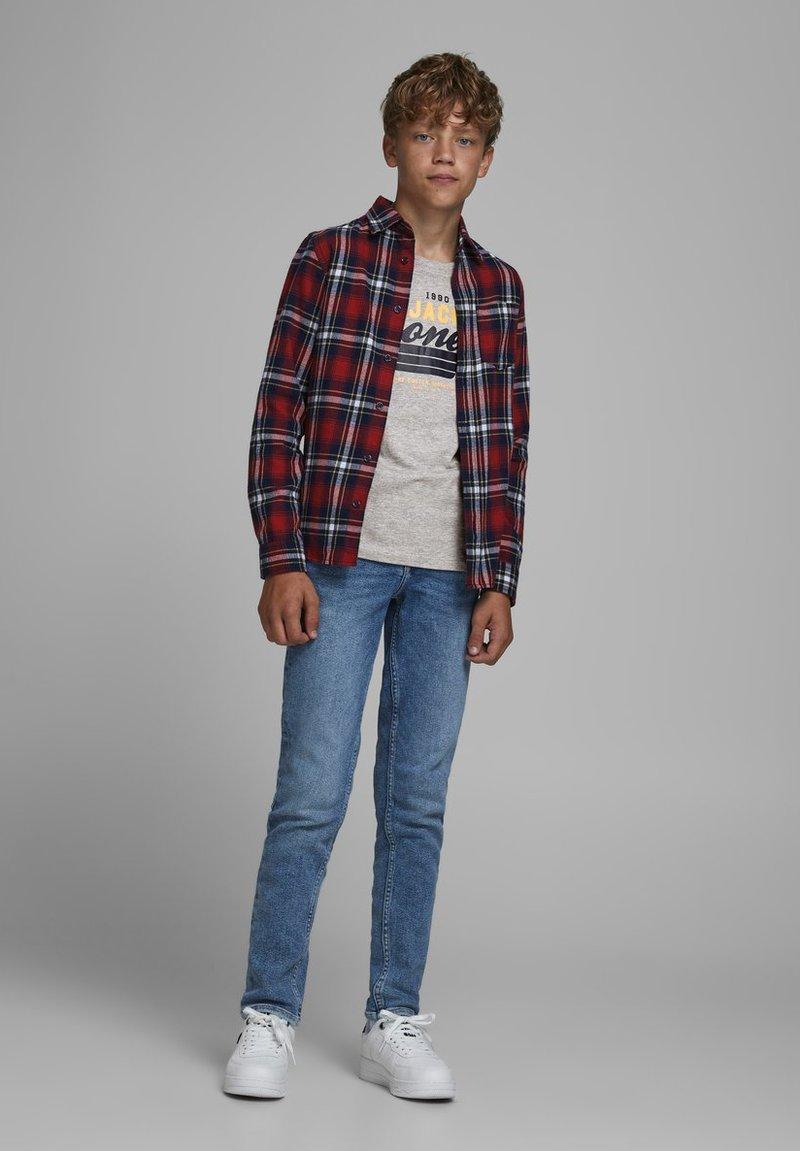 Jack & Jones Junior - JJELOGO - Print T-shirt - light grey melange