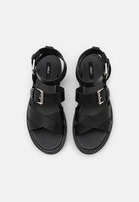 ONLY SHOES - ONLMALU CHUNKY WRAP - Platform sandals - black - 5