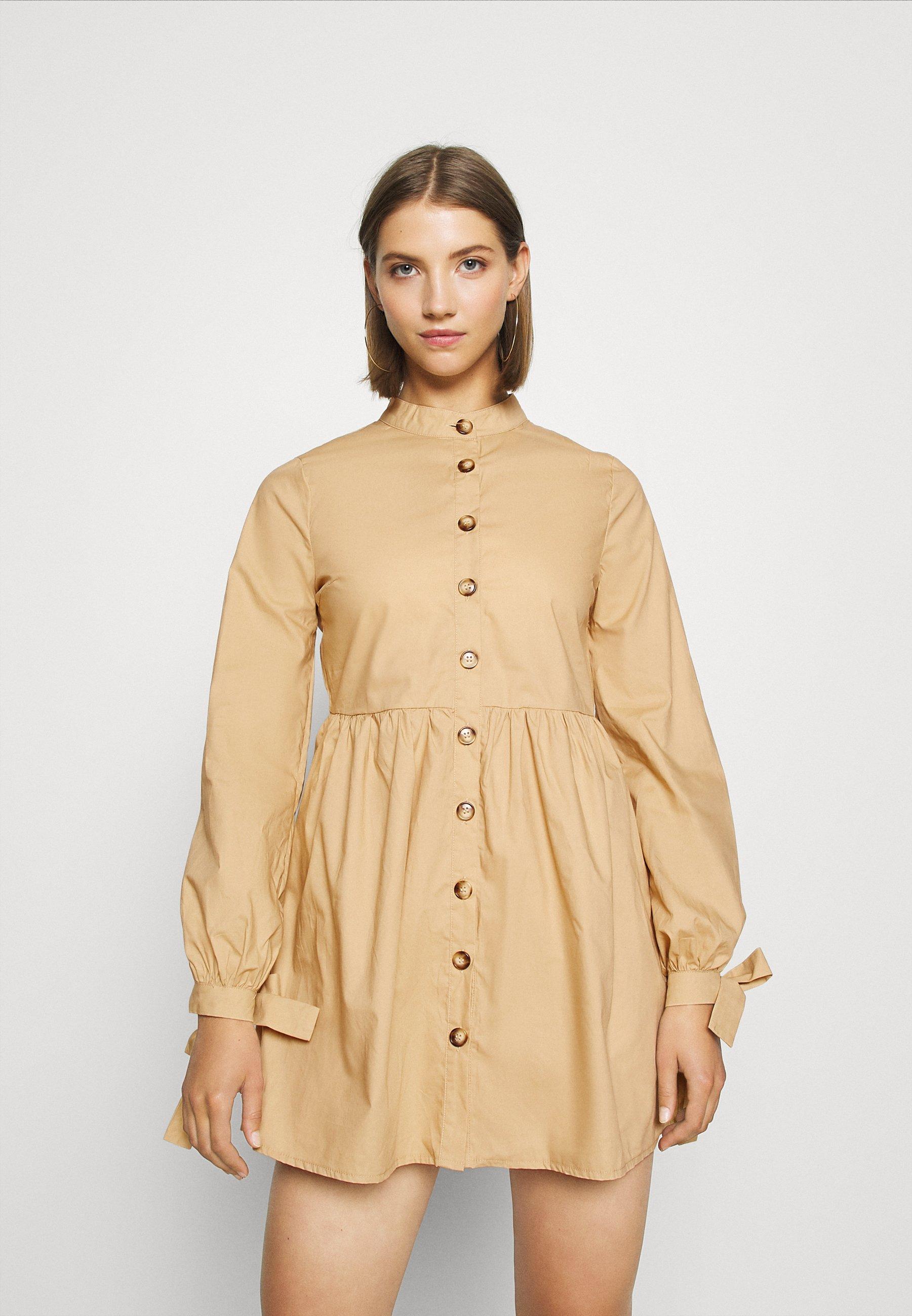 Women TIE CUFF DRESS - Shirt dress