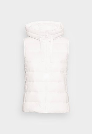 RECYCLED VEST FIX HOOD STAND UP COLL - Waistcoat - white sand