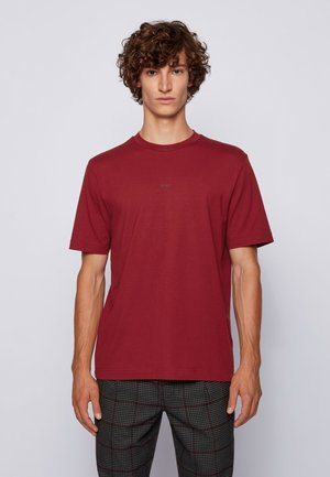 TCHUP - Print T-shirt - dark red