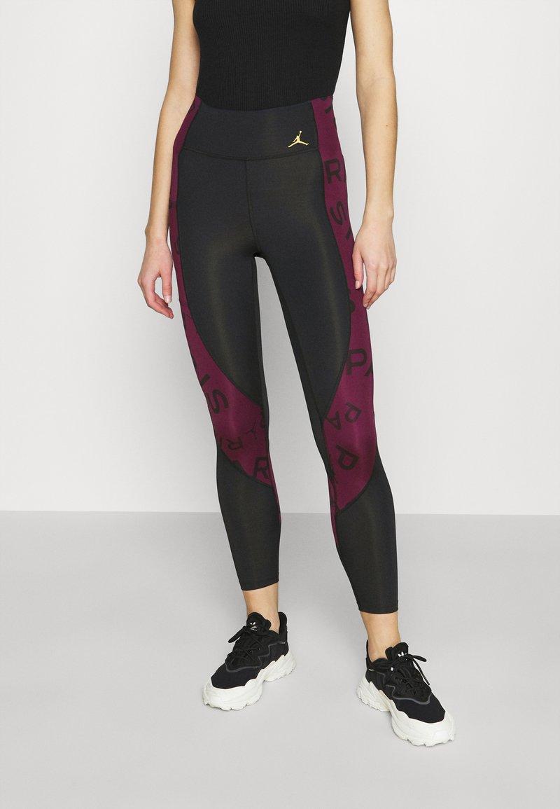 Jordan - PSG 7/8  - Leggings - Trousers - black/metallic gold