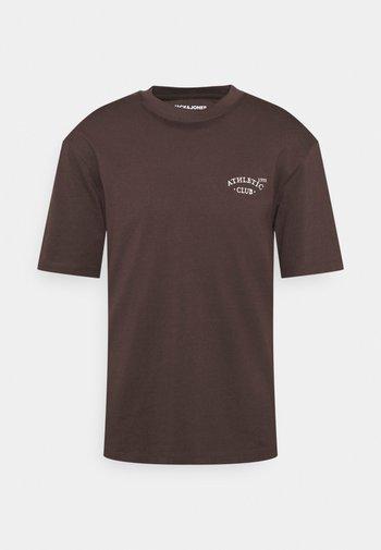 JORTOBIAS TEE CREW NECK CHEST UNISEX - Basic T-shirt - seal brown