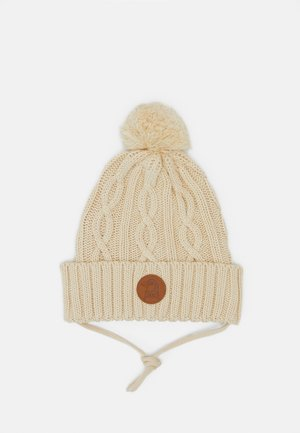 CABLE POMPOM HAT - Beanie - offwhite