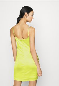 Missguided - EMBELLISHED NECK BODYCON DRESS - Cocktail dress / Party dress - lime - 3