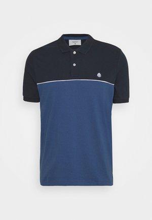 PIPPING - Polo shirt - dark blue