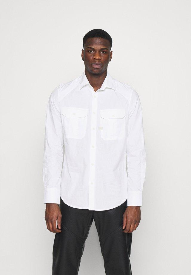 POLICE SLIM SHIRT L\S - Shirt - white