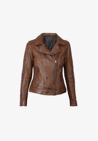 Oakwood - FOLLOW - Leather jacket - brown - 4
