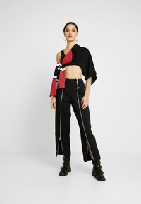 The Ragged Priest - MISTAKE PANT - Flared jeans - black - 2