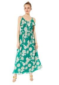 comma - Maxi dress - green big flowers - 4