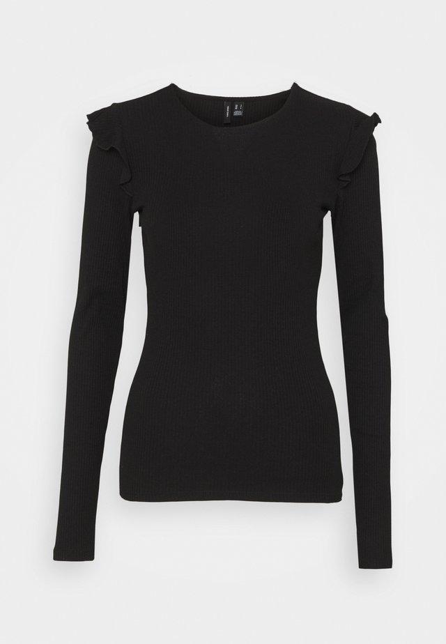 VMAVA FRILLS - Long sleeved top - black