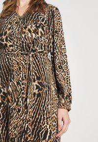 Vero Moda - VMLENA LEO DRESS - Jurk - black - 4