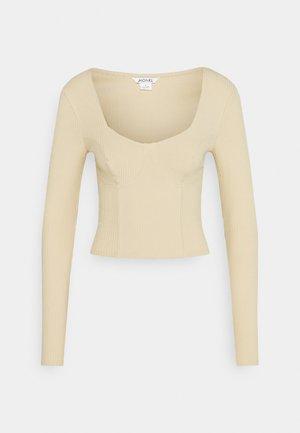 VINNIE  - Top sdlouhým rukávem - solid beige