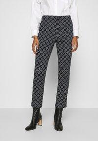 GANT - CIGARETTE PANT - Trousers - evening blue - 0
