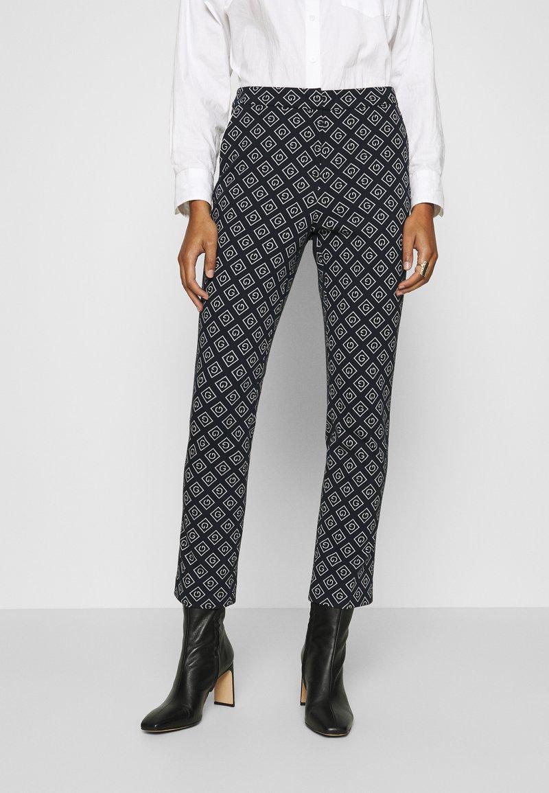 GANT - CIGARETTE PANT - Trousers - evening blue
