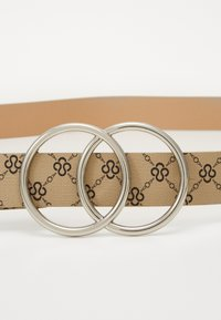 Missguided - PRINTED DETAIL DOUBLE RING BELT - Riem - cream - 2