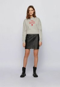 BOSS - Leather skirt - black - 1