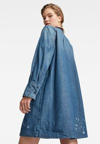G-Star - V-NECK TUNIC DRESS - Denim dress - faded aegean blue - 1