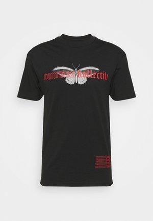 BUTTERFLY UNISEX - T-shirt med print - black