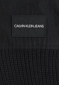 Calvin Klein Jeans - MIXED MEDIA HOODED - Hoodie - black - 2