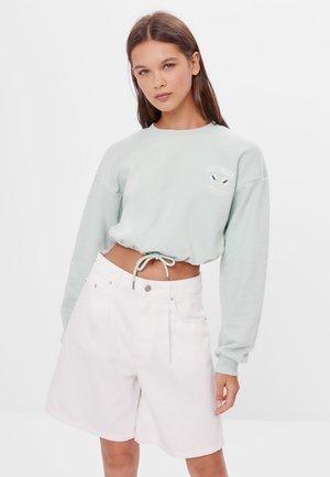 MIT SCHLEIFEN - Sweatshirt - turquoise