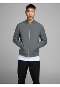 Jack & Jones - JERUSH - Bomber Jacket - dark grey - 0