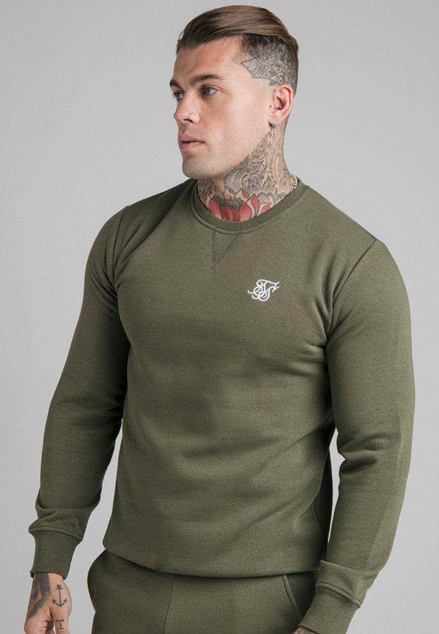 SIKSILK CREW - Sweater - khaki