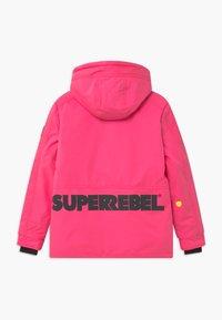 SuperRebel - SUSTAINABLE PLAIN UNISEX - Snowboardová bunda - fluo pink - 1