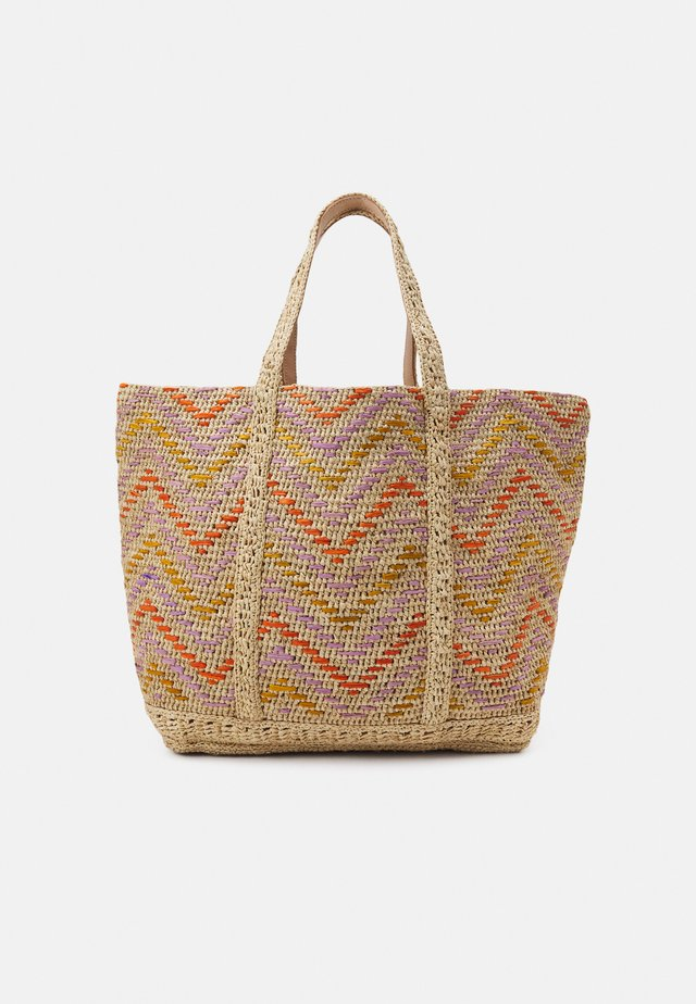CABAS MOYEN - Shopping bag - multico/orange